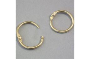 BINDING RINGS BRASS-PLATED